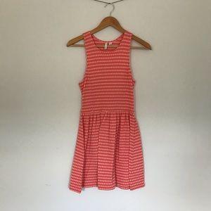FRENCHI (Nordstrom) | orange skater dress
